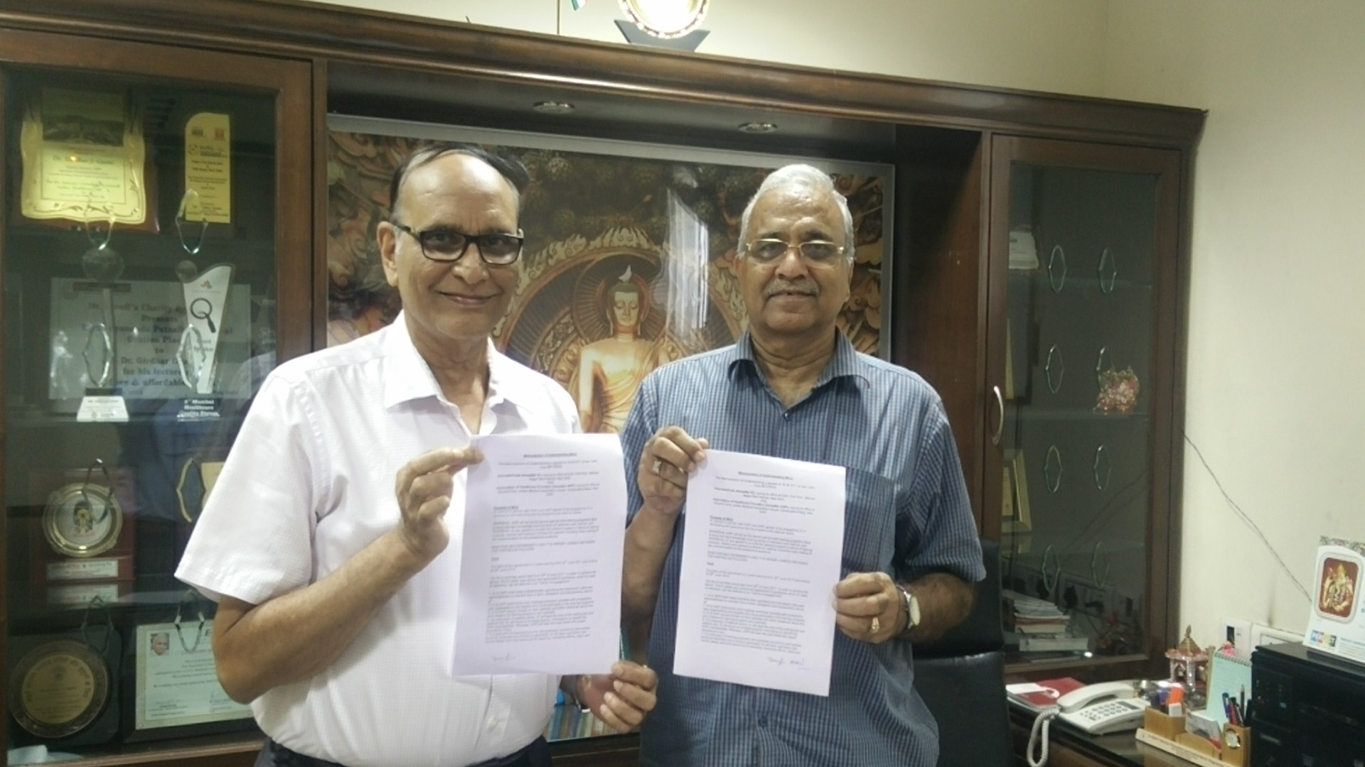 IC and AHPI exchanged MoU copies