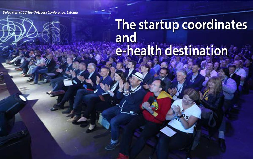 Startup coordinates and e-health destination