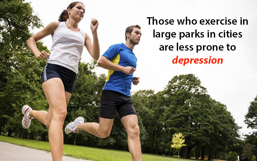 Exercise in big parks can reduce depression