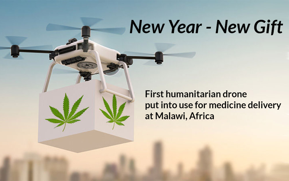 First humanitarian medicine delivery drone