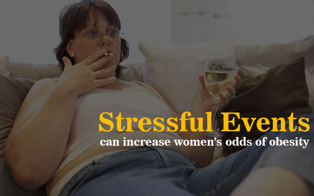 Stressful events can increase women's obesity