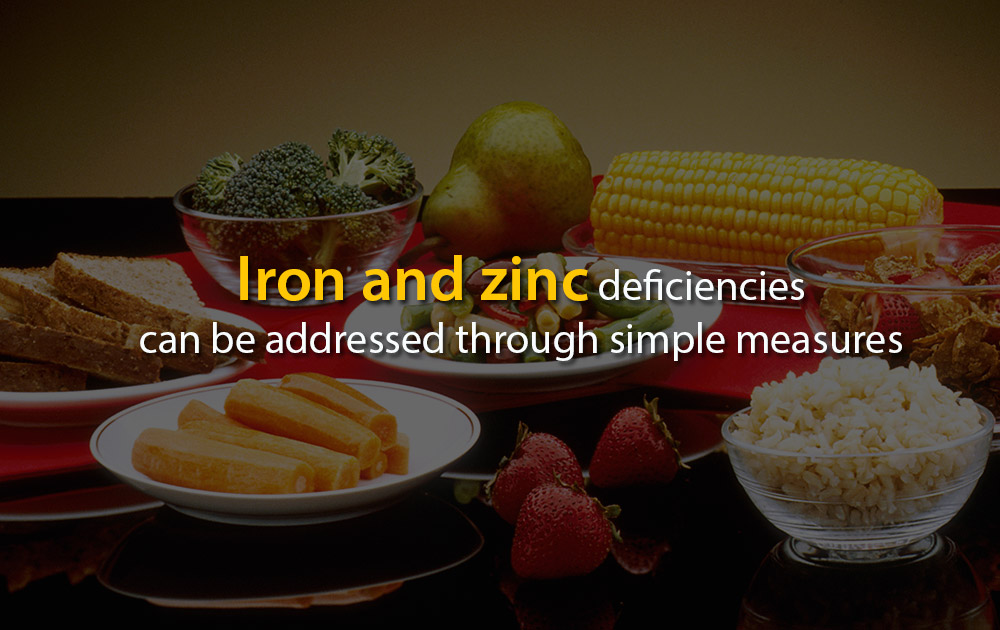 Iron and Zinc Deficiencies can be Addressed