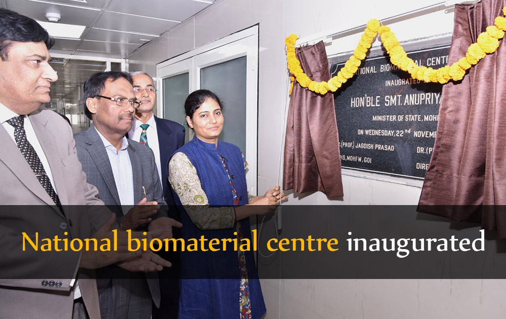 National biomaterial centre inaugurated